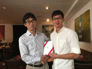 Wen Bin received an iPad mini 4 for winning a challenge!